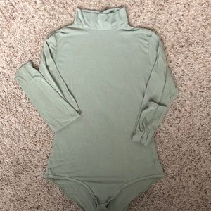 BooHoo Mockneck Bodysuit
